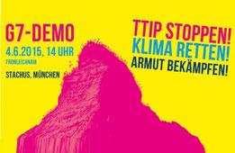 G7-Demo Plakat