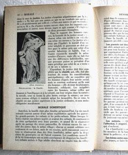 Pages du mémento consacrées à la morale