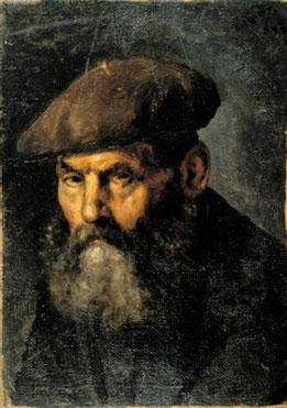 L'homme au beret, Pablo Picasso, huile sur toile, 50x36 cm, 1895, Musée Picasso de Barcelone.