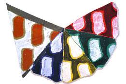 2013/460 (2013)  Peinture, Acrylique sur parasole et bâche , 170 cm x 190 cm, Galerie Bernard Ceysson.