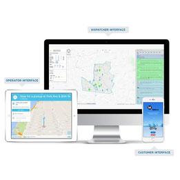 Interfaces van technologiebedrijf ViaVan