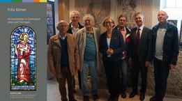 v.l.n.r.: Otto Haueis und Prof. Gerhard Jahreis KBV, Friedrich Körner, Claudia Persch, Videofilmer Herbert Pätz, Superintendent Sebastian Neuß, Wolfgang Zitzmann (KBV)