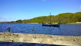Wikingerschiff auf dem Fårup See