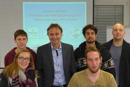 Reini Zitz hält einen Praxisdialog im Bachelorstudiengang Sport- und Eventmanagement