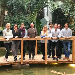 Die Tourismusmanagement-Studierenden vom Bodensee Campus in Konstanz zu Besuch im Center Parc  Allgäu