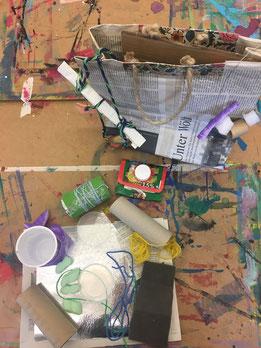 Upcycling in der werk.statt. Aus 'Abfallprodukten' entstehen neue Kreationen. Foto: Museum Lothar Fischer