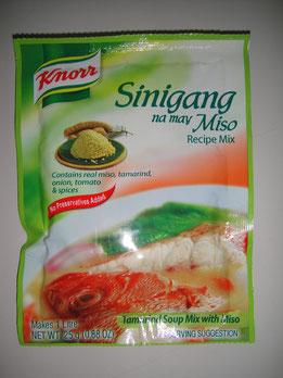 フィリピン料理シニガンNA味噌汁