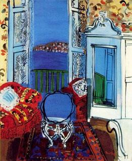 ꧁ Raoul Dufy, Fenêtre ouverte à Nice, 1928 ꧂