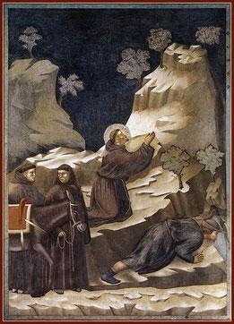 Il miracolo della sorgente è la quattordicesima delle ventotto scene del ciclo di affreschi delle Storie di san Francesco della Basilica superiore di Assisi, attribuiti a Giotto. Fu dipinta verosimilmente tra il 1295 e il 1299 e misura 270x200 cm.