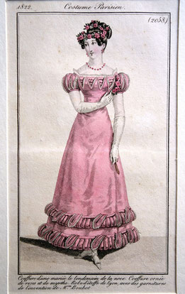 Attire for the day after the wedding, Costume Parisien, 1822. picture taken by Nina Möller