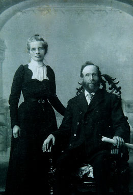 Hector L. McLean, builder of the Queen's Hotel, with his wife Eleanor Witty