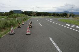 鳥取県中部運転免許センター障害物
