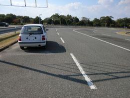 岡山県運転免許センター障害物