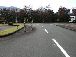 岐阜県自動車運転免許試験場障害物
