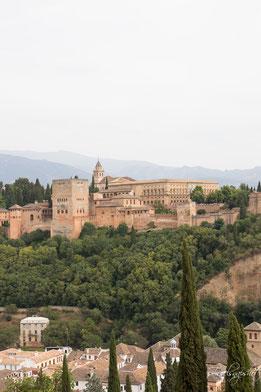 Blick auf die Alhambra von St. Nicolas