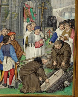 Mittelalter Freidhof Friedhöfe mittelalterlich mittelalterliche geschichte skelett tod tot skelette grab gräber beerdigung