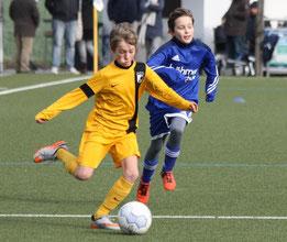 Torschütze zum 1:0. D2-Jugend in Mintard. - Fotos: p.d.
