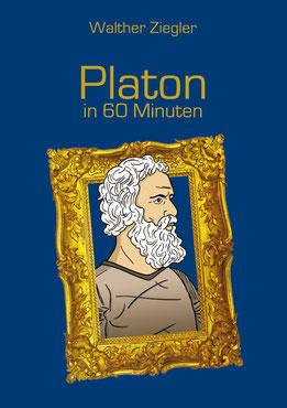 Platon; Bild von Platon; Comiczeichnung von Platon; Kopf von Platon in Bilderrahmen