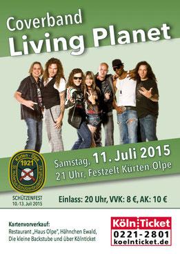 Living Planet Band - Liveband, Galaband, Coverband aus dem Großraum Köln in NRW