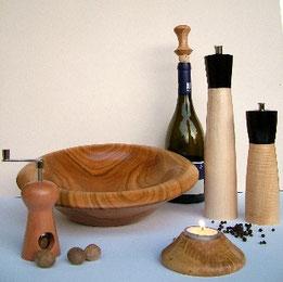 Gedrechselte Wohnaccessoires aus Holz