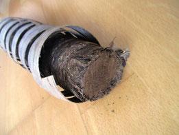 Typischer schamanischer Tabak zusammengerollt und gepresst