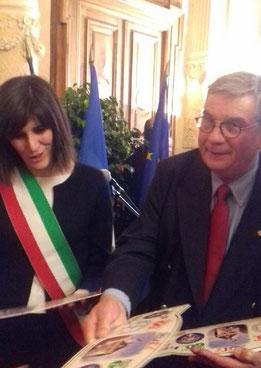 Chiara Appendino Maire de Turin & Serge Gross Président de La Manivelle