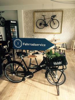 Werbefahrrad fritz-kola Lastenrad Fahrradcafé
