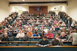 Public lors de la conférence de Francis Hallé en 2013