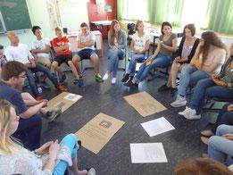 Einer der Schülergruppen beim Workshop