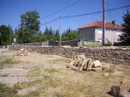 Mur en pierres maçonnées de Faycelles