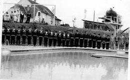Die Schwimmsektion des GAK um 1956, Foto und ©: Gaber