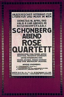 Konzertprogramm Rosé-Quartett 1912. Foto: Österreichische Nationalbibliothek Bildarchiv