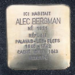 Stolperstein Alec Bergman - Liège, 4 novembre 2015.