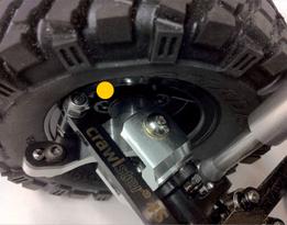 Detailansicht: Crawlster®4S-Lenkwinkel und -Lenkbügel