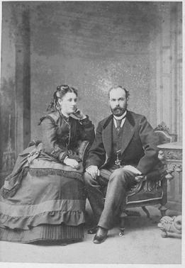 Julie Sophie Rosenplänter (neé Faltin) und Friedrich Selmar Rosenplänter