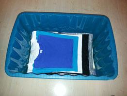 Gebügelder Wäschekorb