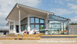 Designhaus in Blockbauweise mit Wohnfläche von 80 bis 250 m²