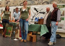 Der NABU Stand  - v. li. K.-S. Wiegel, K.Börgmann, H. Berhörster, B. Albers, H. Hoppach  -  Foto A. Bürgener