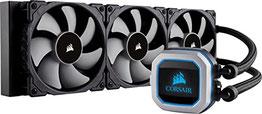 CORSAIR Hydro Series H150i PRO RGB CPU-Flüssigkeitskühlung (360-mm-Radiator, drei ML Series 120-mm-PWM-Lüfter, RGB-Beleuchtung und Lüfter, Intel 115x 2066 und AMD AM4 kompatibel)