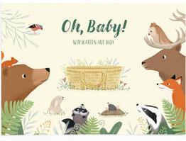 Postkarte - Oh, Baby! Wir warten auf dich