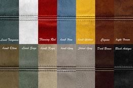 Farbmuster - Lederfarben für unsere Ledermöbel