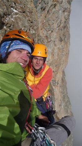 """Simon Rémy et Paul Michas au relais  lors de l'ouverture de  """"Mitchka"""" en août 2009. (Photo Christophe Moulin)"""