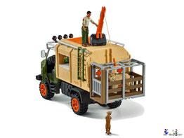 Die Besonderheit im Schleich Paket 42475 Grosser Truck Tierrettung ist die mobile Arztpraxis.