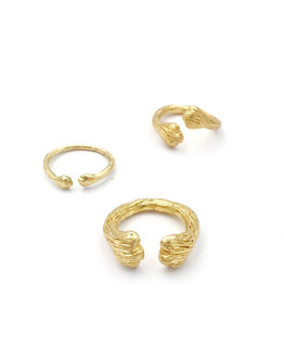 Astrid Siber - Lass-dich-umarmen-Ringe - ssilber vergoldet oder gold