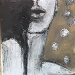 20x20 Acryl/Pastell auf Leinwand