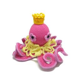 Розовый мягкий осьминог, ручная работа, на заказ. Доставка по Украине и СНГ.