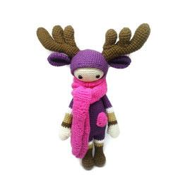 кукла вязаная купить украина кукла олень, новый год подарок, интерьерная игрушка рождество