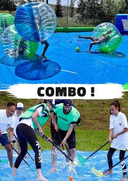 organiser un evg evjf, activités dans le 74, bubble foot, hockey savon team-building