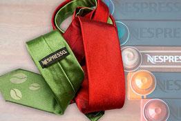 Krawatte mit Logo, Wunschdruck, personalisiert, besticken - Feld Textil GmbH Krefeld