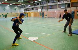 Indoorbaseball , die schnelle Variante in der Halle